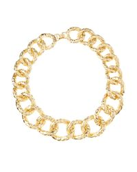 Kenneth Jay Lane - Metallic Polished Hammeredlink Necklace - Lyst
