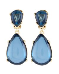 Kenneth Jay Lane | Blue Resin Drop Earrings | Lyst