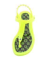 Marc By Marc Jacobs Yellow Rubber Jelly Thong Sandals