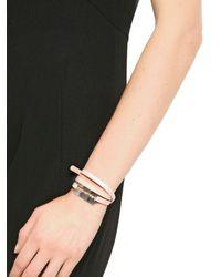 McQ - Natural Patent Leather Triple Wrap Bracelet - Lyst