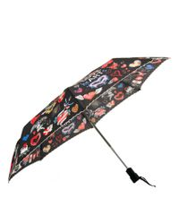 Boutique Moschino Brown I Love Hearts Umbrella