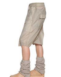 Rick Owens | Beige Nylon Long Rise Shorts for Men | Lyst