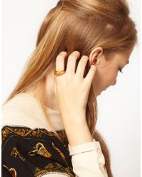 ASOS - Metallic Vintage 90s Sculpted Ring - Lyst