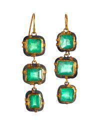Judy Geib - Yellow Emerald Triple Drop Aloo Alaa Earrings - Lyst