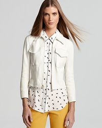 Theory White Jacket Vika Juno Leather