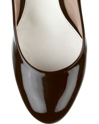 Chloé | Brown Python and Patent-leather Pumps | Lyst