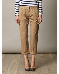 Current/Elliott - Brown Captain Chino Trousers for Men - Lyst