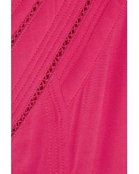 IRO Purple Cutout Crepe Mini Dress