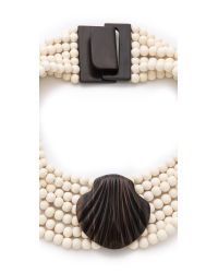 Tory Burch - White Miles Necklace - Lyst