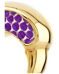 Kara Ross - Purple 18karat Goldplated Water Monitor Ring - Lyst