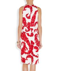 Giambattista Valli | Red Silk-jacquard Dress | Lyst