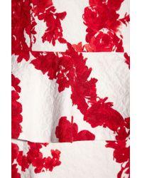Giambattista Valli | Red Silk-Jacquard Dress | Lyst