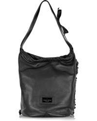 Valentino | Black 'Fringe Hobo' Shoulder Bag | Lyst