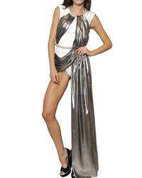 Viktor & Rolf Metallic Draped Lurex Silk On Cady Body