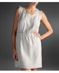 Emporio Armani - Natural Short Dress - Lyst