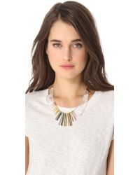 Gemma Redux - Multicolor Cracked Crystal Asymmetrical Necklace - Lyst