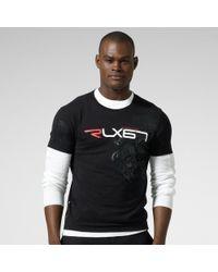 RLX Ralph Lauren - Black Rlx Logo Cotton Jersey Tshirt for Men - Lyst