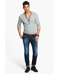 Todd Snyder   Gray Classic Henley for Men   Lyst