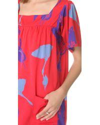 Tucker - Squared Neck Dress - Lyst