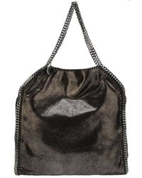 Stella McCartney | Metallic 'small Falabella' Quilted Faux Leather Tote | Lyst