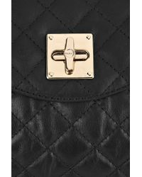DKNY | Black Quilted Leather Messenger Bag | Lyst