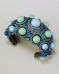 Lanvin | Cabochon Crystal Cuff Blue | Lyst