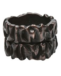 Tamara Akcay | Metallic Bronze Wide Ring for Men | Lyst