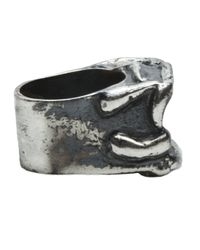 Tamara Akcay - Metallic Large Crater Ring for Men - Lyst