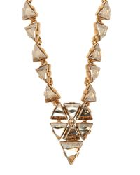 Oscar de la Renta | Metallic Bold Multi-crystal Statement Necklace | Lyst