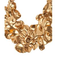 Oscar de la Renta - Pink Rose Petal Collar Necklace - Lyst