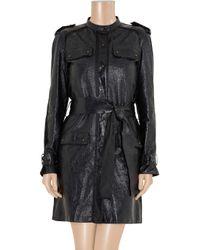 Lanvin - Black Coated Texturedleather Jacket - Lyst