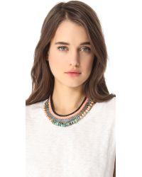 Lizzie Fortunato - Metallic Rose Hall Necklace - Lyst