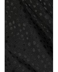 Catherine Malandrino - Black Jacquard Stretchsilk Chiffon Jumpsuit - Lyst