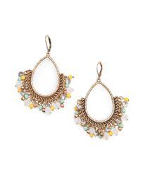Mango | Metallic Touch Beaded Ethnic Earrings | Lyst