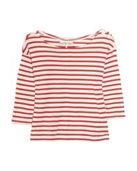 M.i.h Jeans | White Breton Striped Cotton Top | Lyst