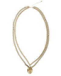ASOS - Metallic Asos Enamel Locket Chain Necklace for Men - Lyst