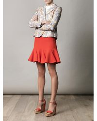 Carven   Pink Double Crepe Skirt   Lyst