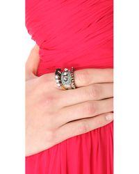 Iosselliani - Metallic Fused Stone Ring Set - Lyst