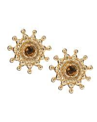 Kendra Scott | Metallic Dryden Smoky Quartz Earrings | Lyst