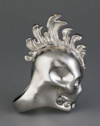Alexander McQueen - Metallic Mohawk Skull Ring - Lyst