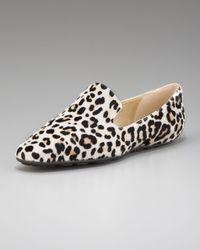 Jimmy Choo | Natural Leopard-print Loafer | Lyst
