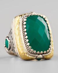 Konstantino - Green Onyx Square Ring - Lyst