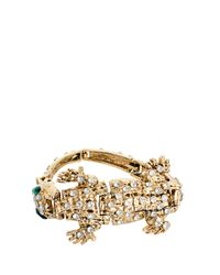 ASOS | Metallic Articulated Crocodile Bracelet | Lyst