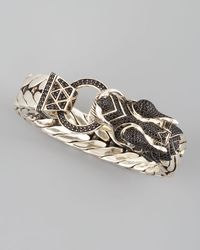 John Hardy | Black Naga Dragon Head Bracelet | Lyst