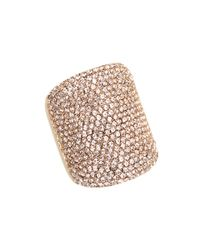 Michael Kors - Pink Brilliance Rose Gold Pave Concave Ring - Lyst