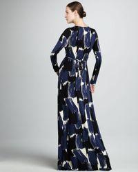 Rachel Pally - Blue Caftanprinted Maxi Dress Womens - Lyst