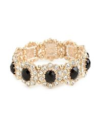 BaubleBar | Black Onyx Bloom Bracelet | Lyst