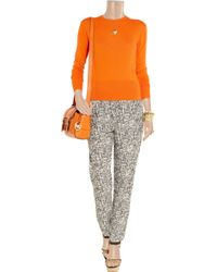 Acne | Orange Lia Fine-knit Cashmere Sweater | Lyst