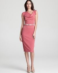 Black Halo - Pink Dress Jackie O in Stretch Crepe - Lyst