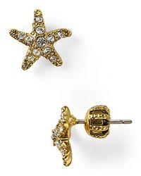 Juicy Couture - Metallic Set Sail Starfish Stud Earrings - Lyst